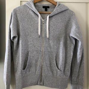 J Crew hooded zip up sweatshirt